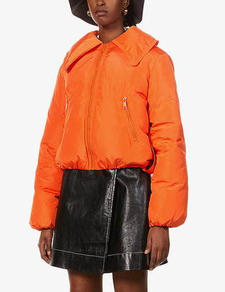 Ganni Tech cropped shell-down jacket