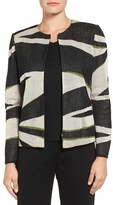 Ming Wang Women's Graphic Print Knit Jacket
