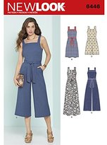 New Look Sewing Pattern 6446A Misses' Jumpsuits and Dresses, White