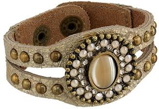 Leather Rock Ember Bracelet (Champagne) Bracelet