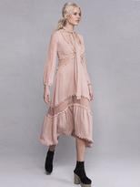 For Love & Lemons Lilou Midi Dress in Dusty Pink