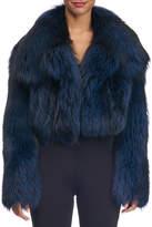 Michael Kors Cropped Fox Fur Jacket