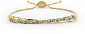 Sabrina Designs 14K 0.54 Ct. Tw. Diamond Cross-Over Adjustable Bracelet