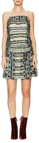 Anna Sui Fringe Trim Fit And Flare Dress