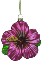 Christmas Shop Orn-Glass Hibiscus Pink