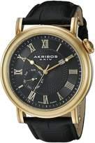Akribos XXIV Men's AK673BKG Analog Display Swiss Quartz Watch
