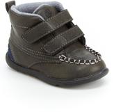 Step & Stride Gray Lyon Dual-Strap Boot - Kids