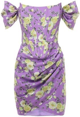 Giuseppe di Morabito Off-The-Shoulder Silk Crepe Dress