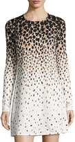 Julie Brown Cheetah-Print Shift Dress, Black Monet