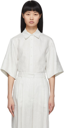Joseph Off-White Chintz Linen Starr Shirt