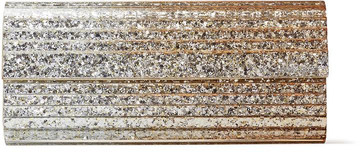 Jimmy Choo SWEETIE Metallic Degrade Glitter Plexi Clutch Bag