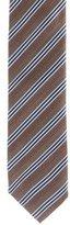 Prada Silk Herringbone Striped Tie