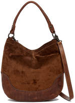 Frye Melissa Suede and Leather Hobo