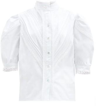 ÀCHEVAL PAMPA Yegua Lace-trim Cotton-blend Blouse - White