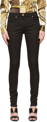 Versace Black Low-Rise Jeans