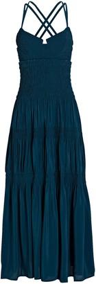 Proenza Schouler Smocked Bustier Midi Dress