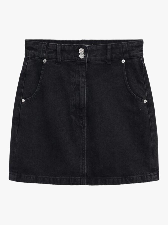Thumbnail for your product : MANGO Buttoned Denim Mini Skirt