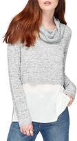 Miss Selfridge Crop knitted 2-in-1 Top