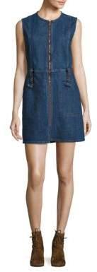 See by Chloe Zip-Front Denim Dress