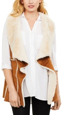 Cupcakes And Cashmere Faux-Fur Maternity Vest