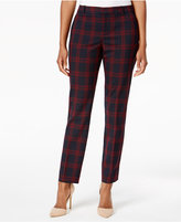 Charter Club Plaid Slim-Leg Pants, Created for Macy's