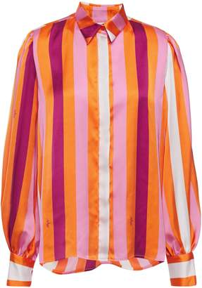 MSGM Striped Satin Blouse