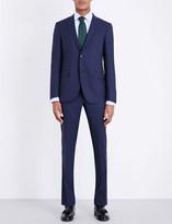 Corneliani Micro-square patterned slim-fit wool suit