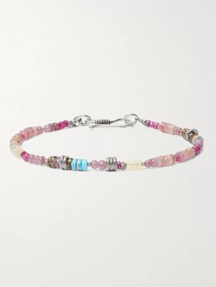 Peyote Bird Sterling Silver Multi-Stone Bracelet - Men - Pink