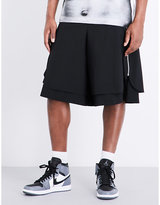 Comme Des Garcons High-rise Layered Wool Shorts