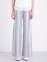 Jonathan Simkhai Striped silk-satin trousers