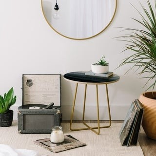 Deny Designs Within Tides Stormy Grey Side Table