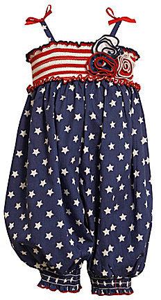 Bonnie Baby Newborn Smocked Americana Party Pants