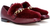 Boyy Loafur fur-trimmed leather loafers