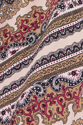 MICHAEL Michael Kors Paisley-print Crepe Midi Dress - Brown