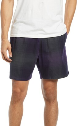 Saturdays NYC Joby Plaid Cotton Shorts