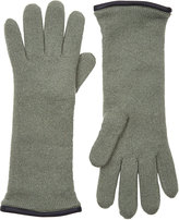 Barneys New York Women's Double-Knit Gloves-Green