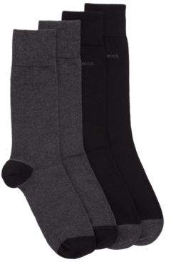 BOSS Two-pack of socks in a stretch-cotton blend