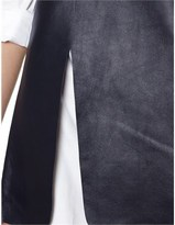 J.W.Anderson Navy Leather Panel Tunic