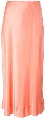 Lee Mathews Stella silk slip skirt