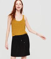 LOFT Lou & Grey Linen Jersey Drawstring Skirt