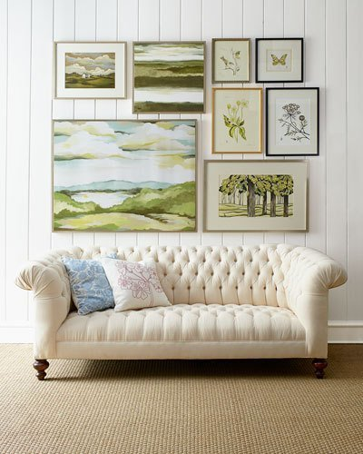 Old Hickory Tannery Ellsworth Neutral Tufted Sofa