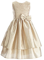 Jayne Copeland Big Girls 7-12 Shantung Tiered Dress