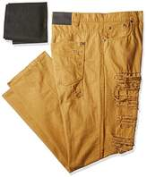 Southpole Men's Big and Tall Twill Pants Long Destructed Ripped and Repaired In Solid Colors