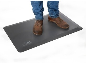 Seville Classics AIRLIFT Gray Anti-Fatigue Comfort Mat for Stand Up Desks Kitchens, Non-Slip Waterproof Polyurethane