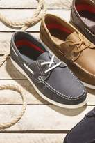 Mens Next Navy Leather Boat Shoe - Blue