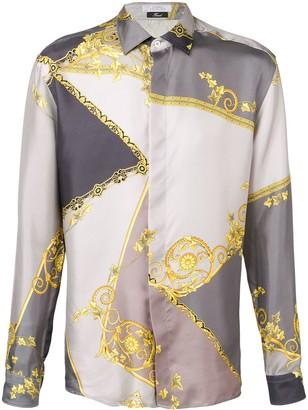 Versace gold leaf print shirt