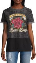Arizona Blessed. Better Days Mesh Graphic T-Shirt- Juniors