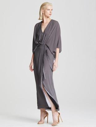 Halston Kimono Stripe Dress