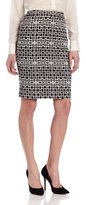 Chaus Women's Geometric Pencil Skirt