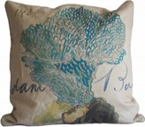 The Well Appointed House Blue Sea Fan Pillow